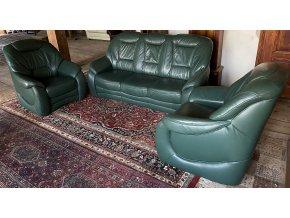Luxusní kožená sedací souprava 3+1+1+ relaxační křeslo
