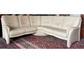 Luxusní rohová kožená sedací souprava 225x225cm
