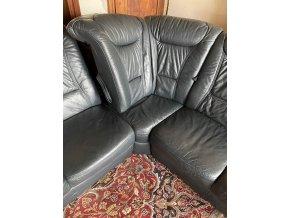 Luxusní rohová kožená sedací souprava