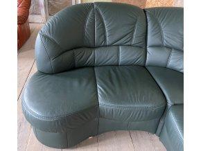 Luxusní rohová kožená sedací souprava + křeslo, 195x260cm