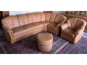 Luxusní rohová kožená sedací souprava 280x175cm