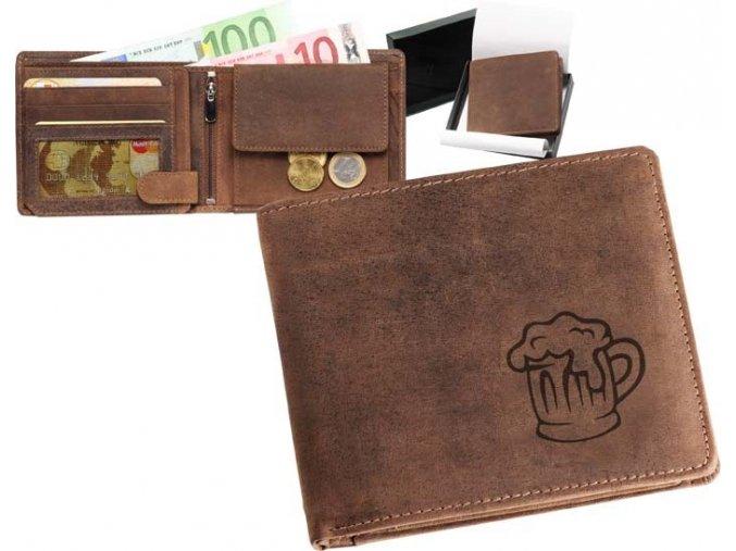 """peněženka 40 """"pivo s pěnou"""""""