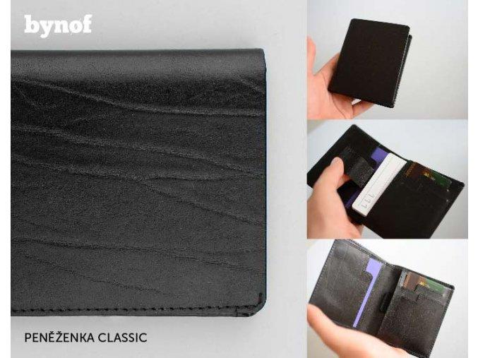 PENĚŽENKA CLASSIC - BYNOF 16014 černá