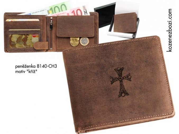 """peněženka 40 """"kříž"""""""