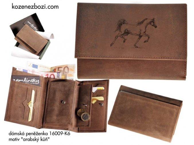 """dámská peněženka 009 """"arabský kůň"""""""