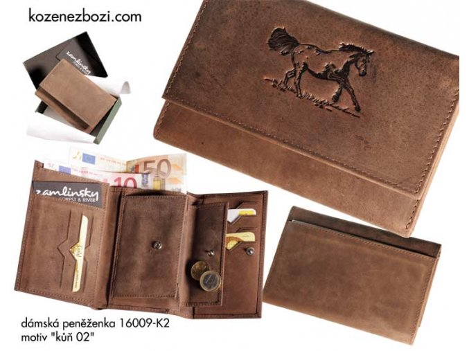 """dámská peněženka 009 """"kůň 02"""""""