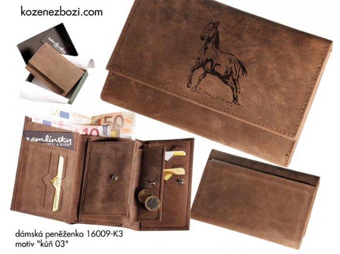 """dámská peněženka 009 """"kůň 03"""""""