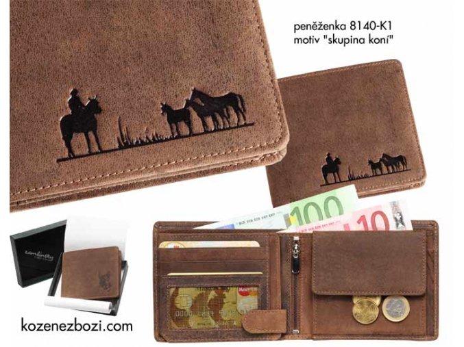 """peněženka 40 """"skupina koní"""""""