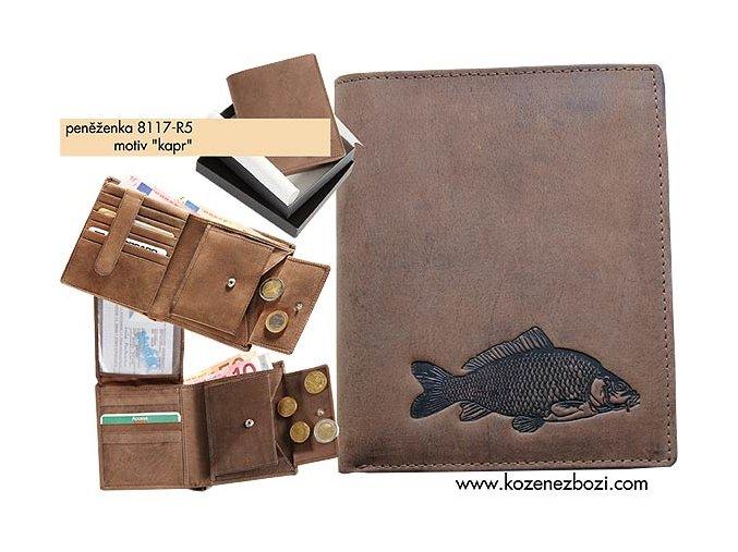 """rybářská peněženka 17 """"kapr"""""""