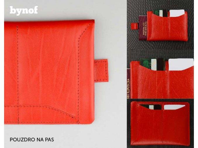 POUZDRO NA PAS S TAHEM - BYNOF 10573 červená