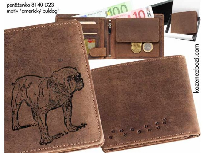 """peněženka 40 """"americký buldog"""""""