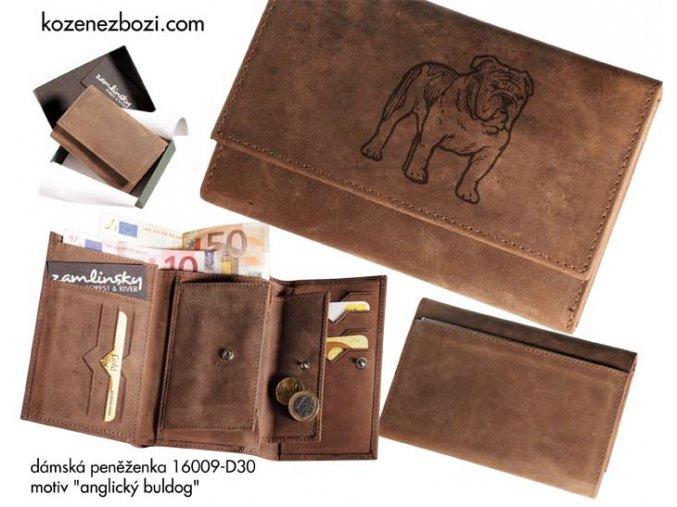 """dámská peněženka 009 """"anglický buldog"""""""