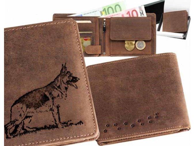 """peněženka 40 """"německý ovčák 2"""""""