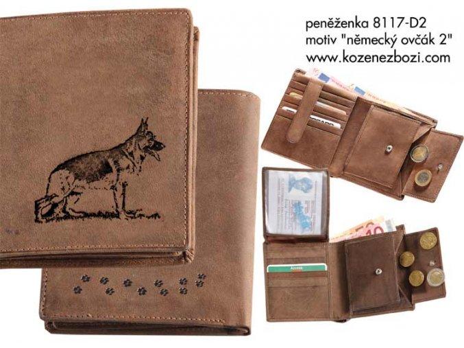 """peněženka 17 """"německý ovčák 2"""""""