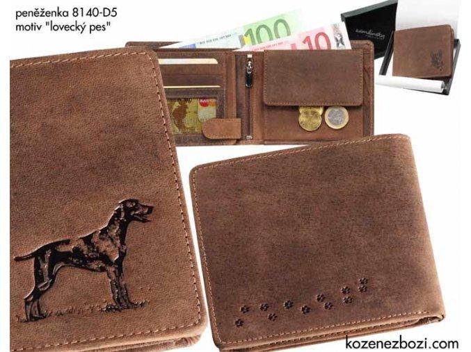 """peněženka 40 """"lovecký pes"""""""