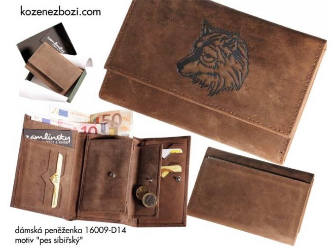 """dámská peněženka 009 """"pes sibiřský"""""""