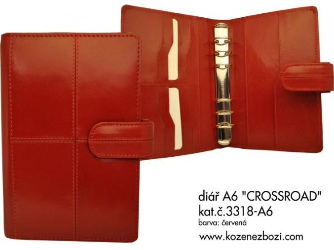 diář A6 CROSSROAD (červený)