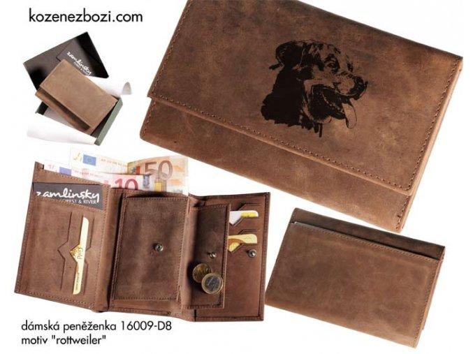 """dámská peněženka 009 """"rottweiler"""""""