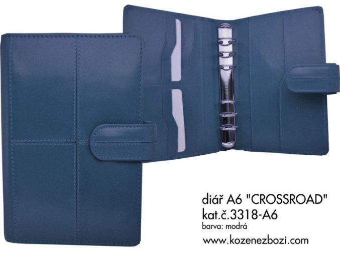 diář A6 CROSSROAD (modrý)