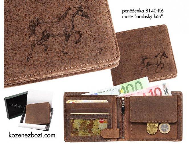 """peněženka 40 """"arabský kůň"""""""