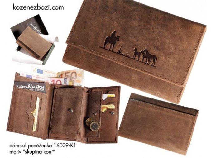 """dámská peněženka 009 """"skupina koní"""""""