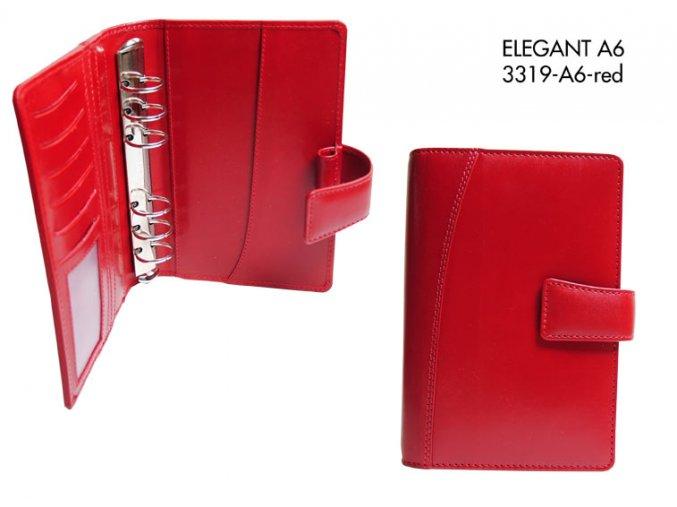 diář A6 ELEGANT (červený)