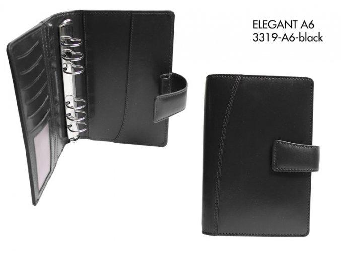 diář A6 ELEGANT (černý)