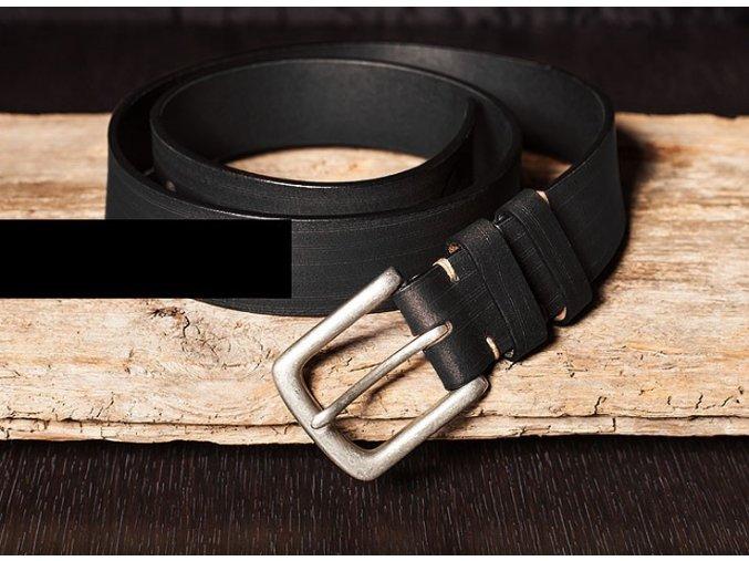 Kožený pásek černý