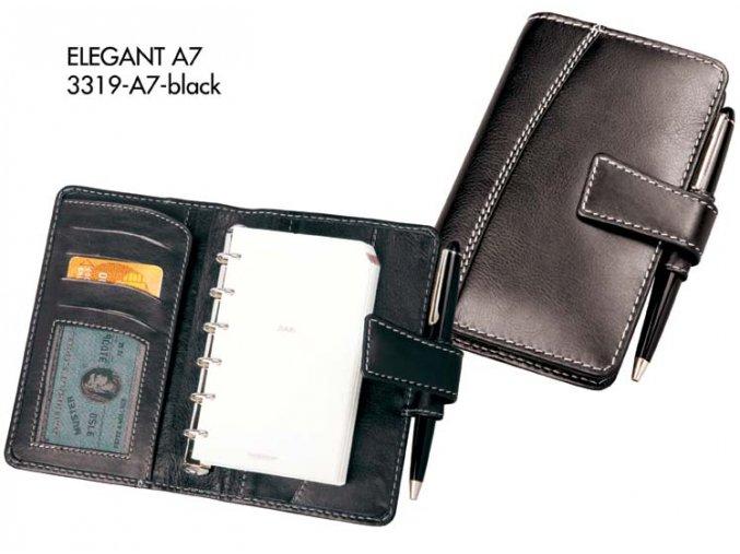 diář A7 ELEGANT (černá)