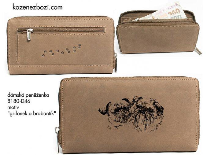 """dámská peněženka 8180 """"grifonek a brabantík"""""""