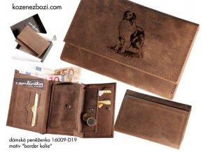 """dámská peněženka 009 """"border kolie"""""""