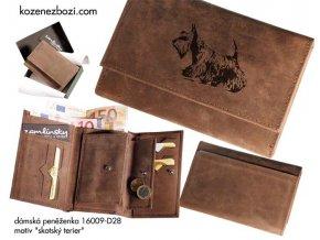 """dámská peněženka 009 """"skotský terier"""""""