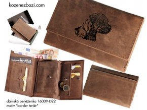 """dámská peněženka 009 """"border teriér"""""""