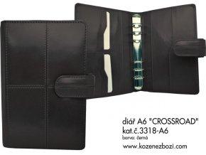diář A6 CROSSROAD (černý)