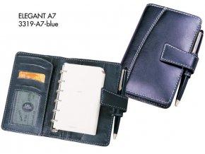 diář A7 ELEGANT (modrá)