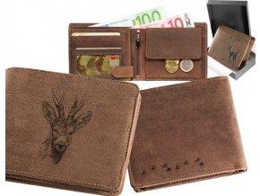 """myslivecká peněženka 40 """"srnec hlava"""""""
