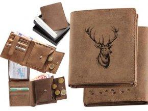 """myslivecká peněženka 17 """"jelení hlava"""""""