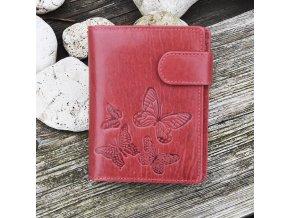 """dámská peněženka 11 """"motýli"""" červená"""
