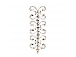 SO.nia Nalepovací šperk Florescence Silver (Barva Silver & Crystal)