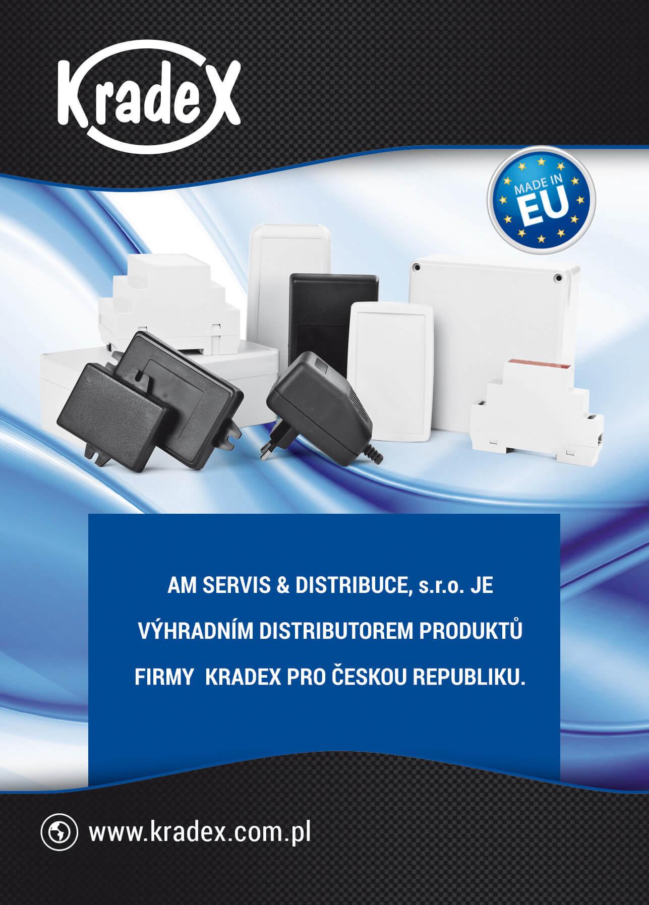 Jsme výhradním distributorem krabiček pro elektroniku Kradex v ČR