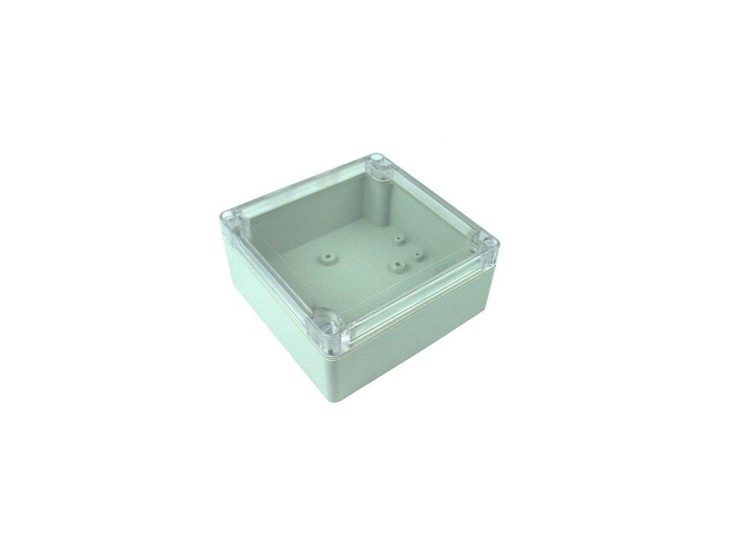 Plastová krabička BK220 šedá, průhledné víko
