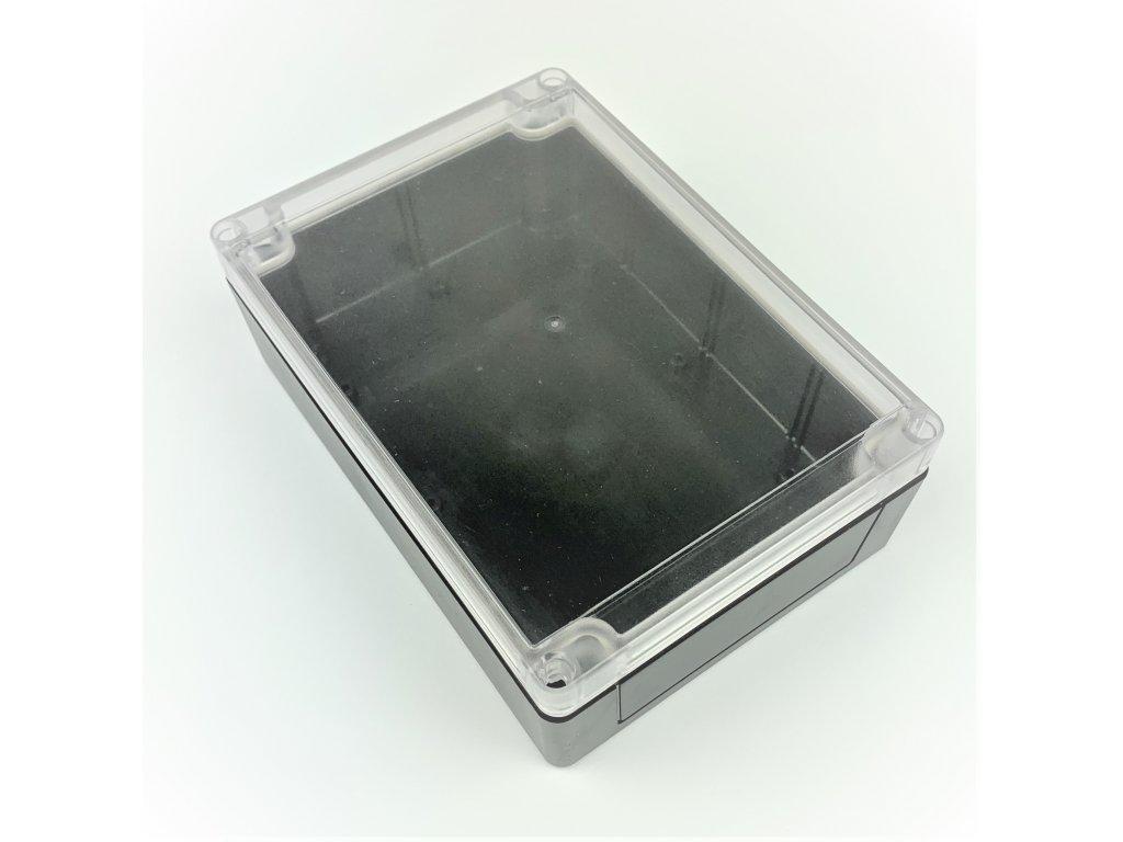 Plastová krabička BK214, černá, průhledné víko