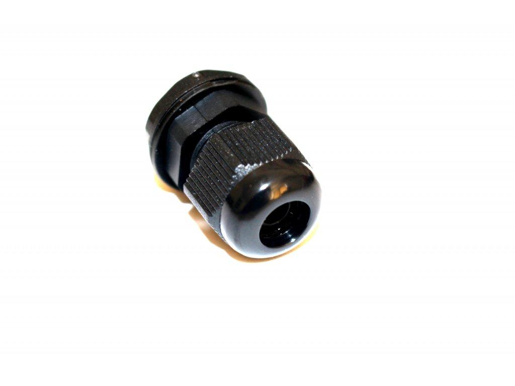Kabelová průchodka PG9, černá