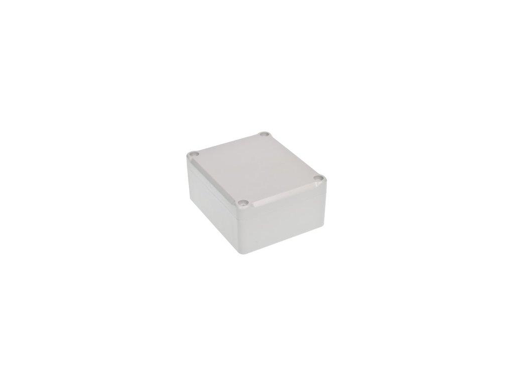 Plastová krabička Z54JH TM, šedá, mosazné matky