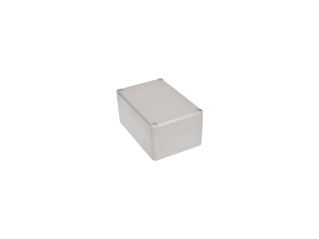 Plastová krabička Z57JH TM, šedá, mosazné matky