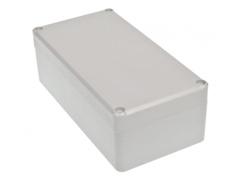 Plastová krabička Z58JH TM, šedá, mosazné matky