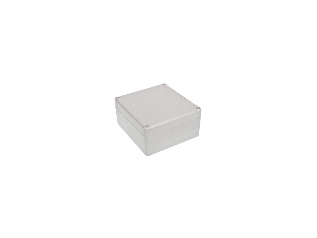 Plastová krabička Z59JH TM, šedá, mosazné matky