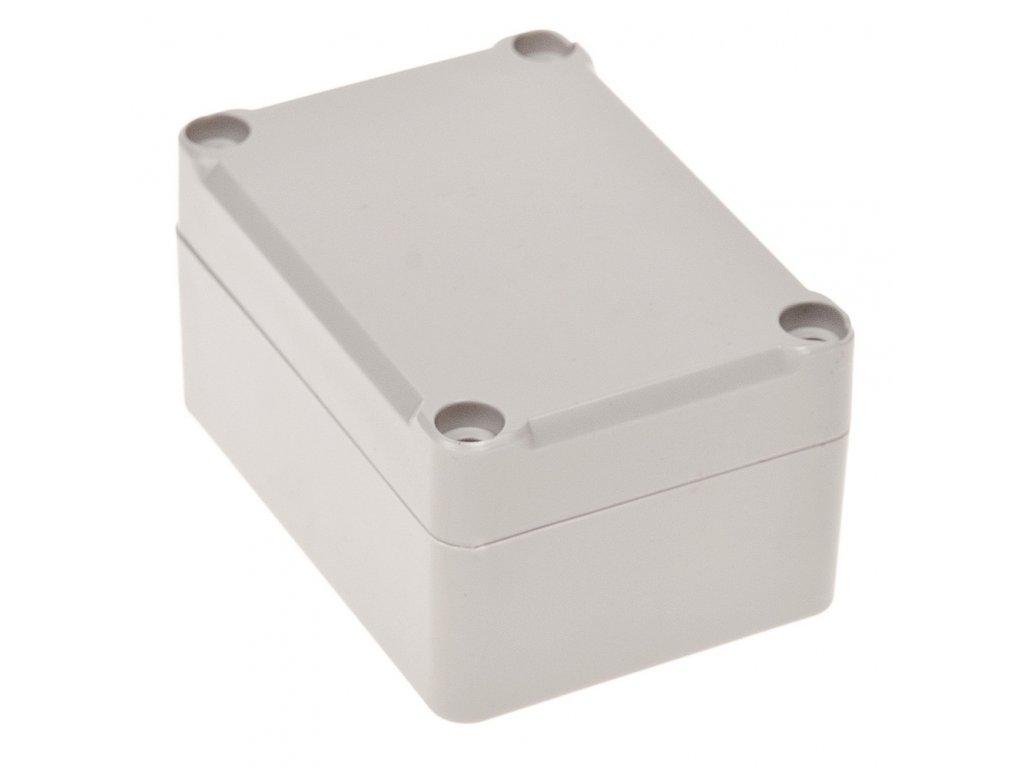 Plastová krabička Z96JH TM, šedá, mosazné matky