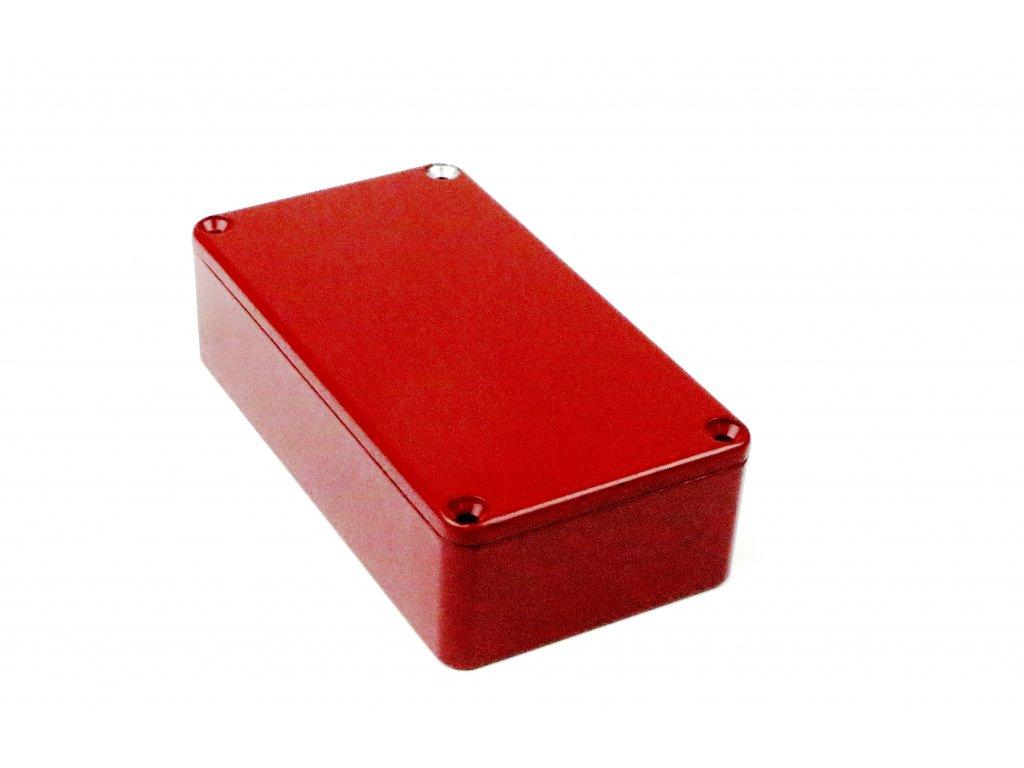 Hliníková krabička AL1596R, červená