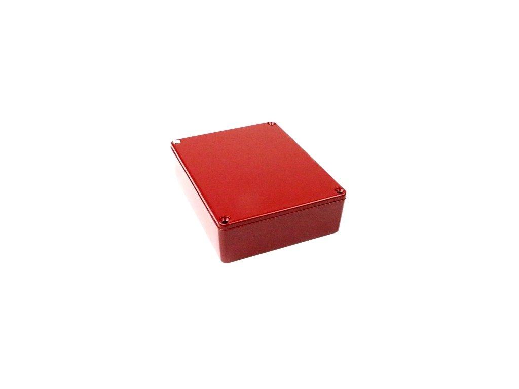 Hliníková krabička AL1597R, červená
